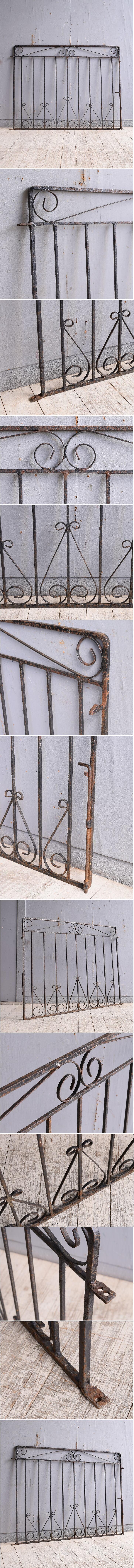 イギリス アンティーク アイアンフェンス ゲート柵 ガーデニング 10004