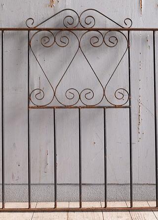 イギリス アンティーク アイアンフェンス ゲート柵 10005