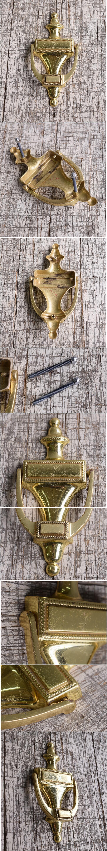 イギリス アンティーク 真鍮製ドアノッカー 10012