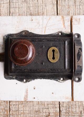 イギリス アンティーク ラッチ&ドアノブ 建具金物 10075