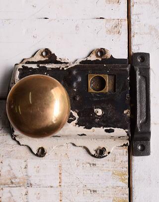 イギリス アンティーク ラッチ&ドアノブ 建具金物 10077