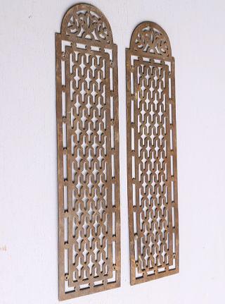 イギリス アンティーク 真鍮フィンガープレート ドアプレート×2  10112