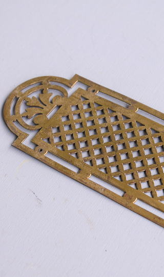 イギリス アンティーク 真鍮フィンガープレート ドアプレート 10113