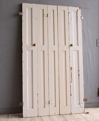 イギリス アンティーク カップボードドア 折れ戸 扉 10142