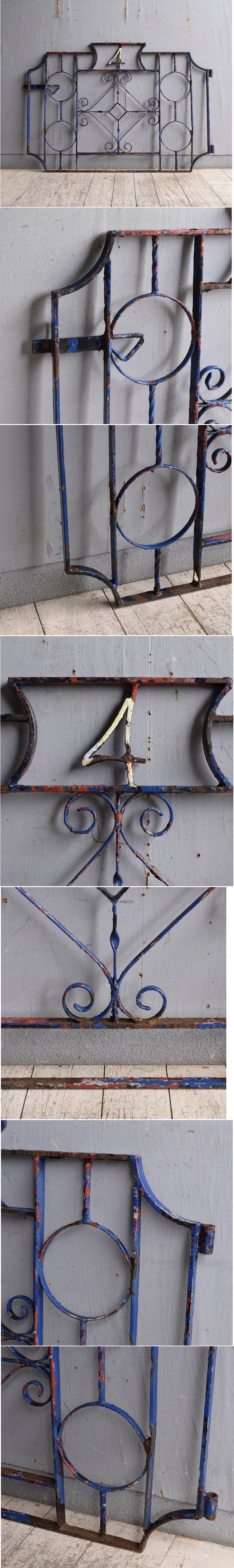 イギリスアンティーク アイアンフェンス ゲート柵 ガーデニング 10186