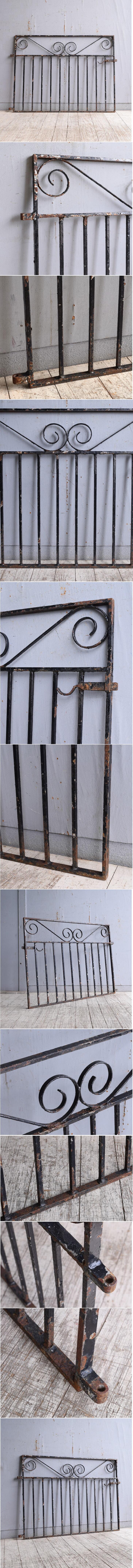 イギリスアンティーク アイアンフェンス ゲート柵 ガーデニング 10218