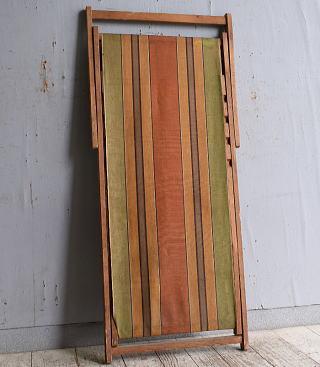 イギリス アンティーク フォールディングデッキチェア 椅子 10241