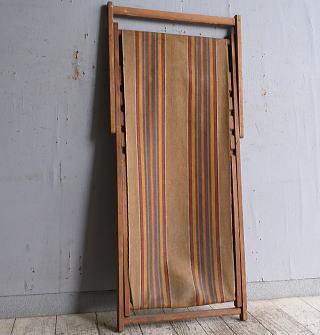 イギリス アンティーク フォールディングデッキチェア 椅子 10242