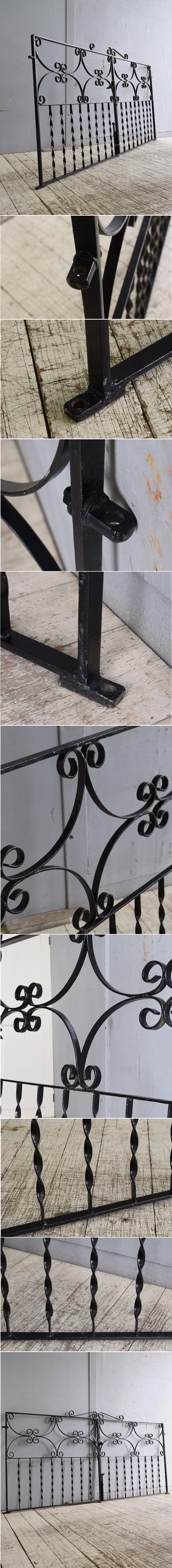イギリスアンティーク アイアンフェンス ゲート柵 ガーデニング 10244