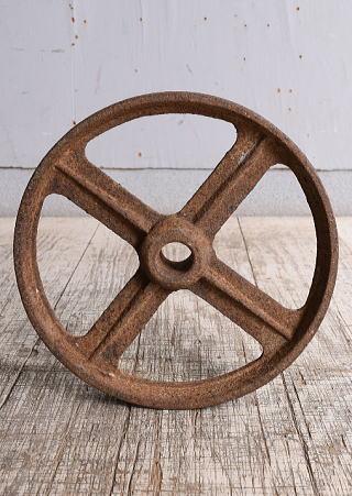 イギリス アンティーク 鉄製 車輪 10252