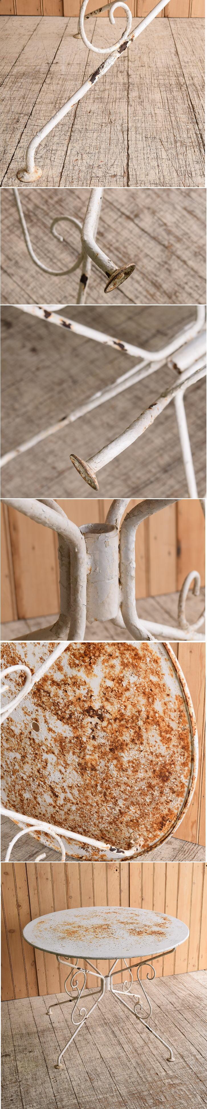 フレンチ アンティーク アイアン ガーデンテーブル 10264