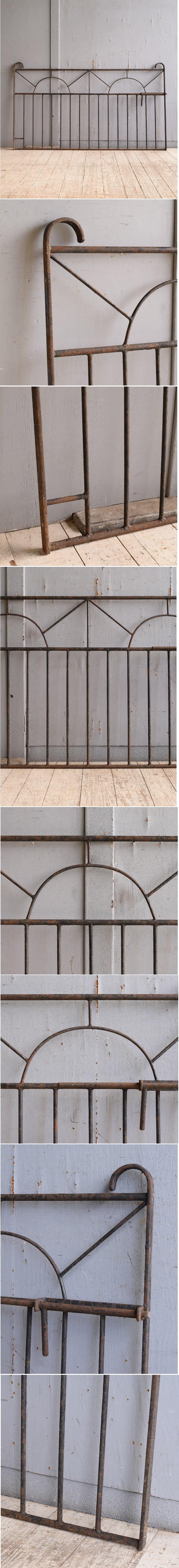 イギリスアンティーク アイアンフェンス ゲート柵 ガーデニング 10280