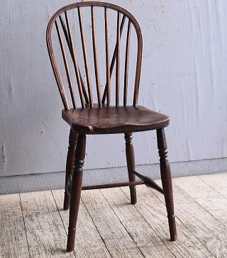イギリス アンティーク家具 キッチンチェア 椅子 10347