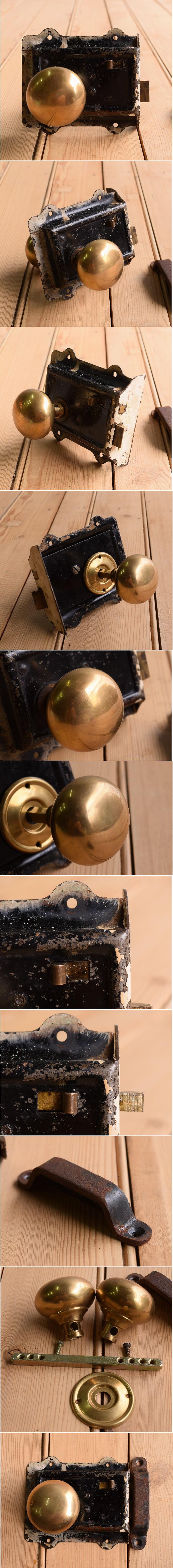 イギリス アンティーク ラッチ&ドアノブ 建具金物 10360