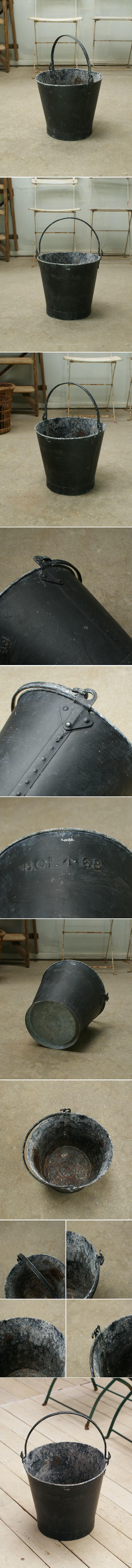 イギリス アンティーク ブリキ製 バケツ ガーデニング 収納 2046