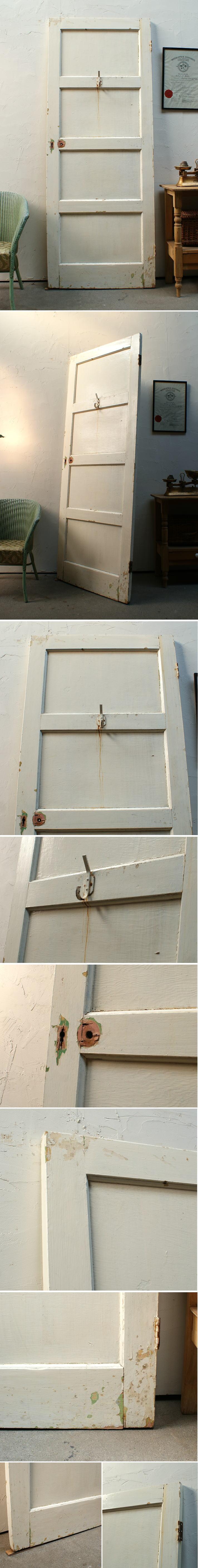 イギリス アンティーク 木製ドア 扉 ディスプレイ 建具 2910