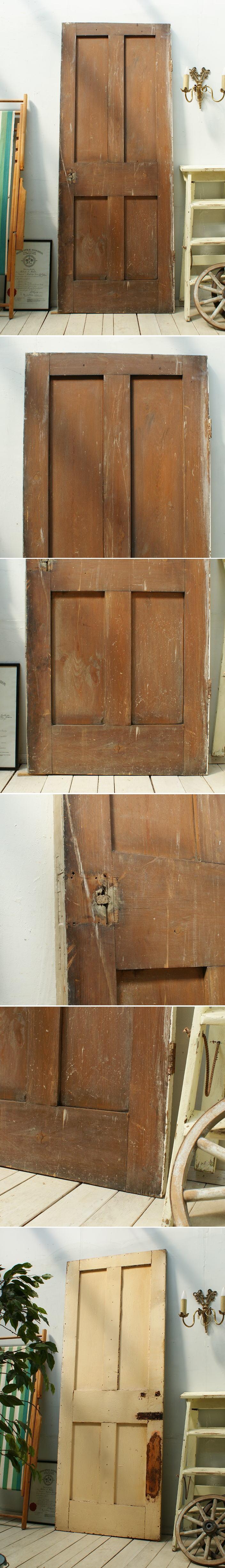イギリス アンティーク 木製ドア 扉 ディスプレイ 建具 3073