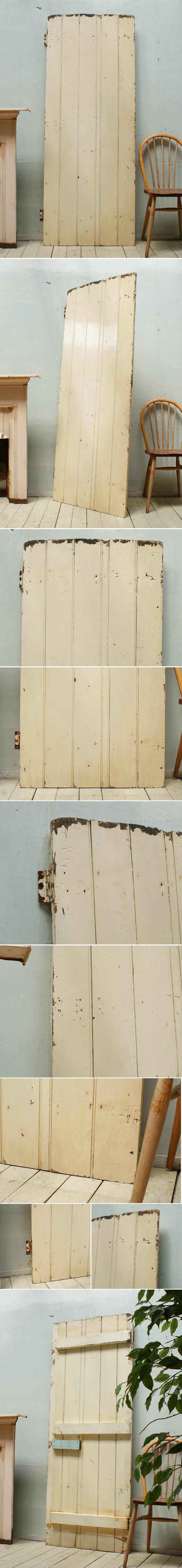 イギリス アンティーク 木製ドア 扉 ディスプレイ 建具 3277