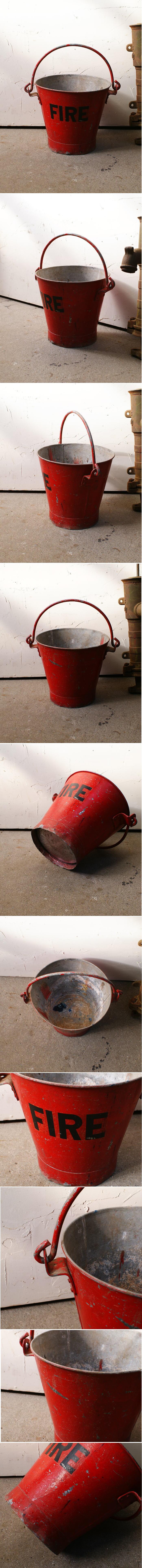イギリス アンティーク ブリキ製 バケツ ガーデニング 収納 4483