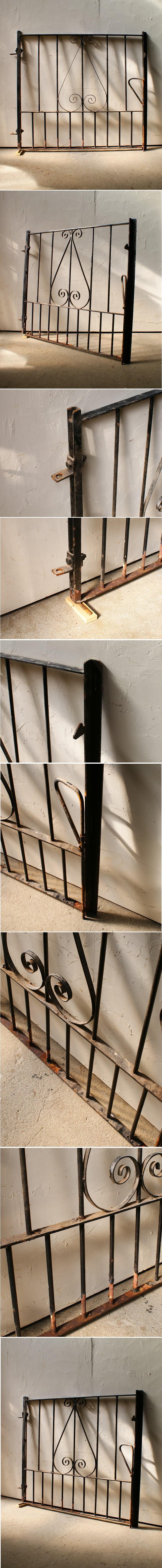 イギリスアンティーク アイアンフェンス ゲート柵 ガーデニング 9988