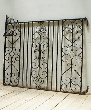 イギリス アンティーク アイアンフェンス ゲート柵 ガーデニング 9998