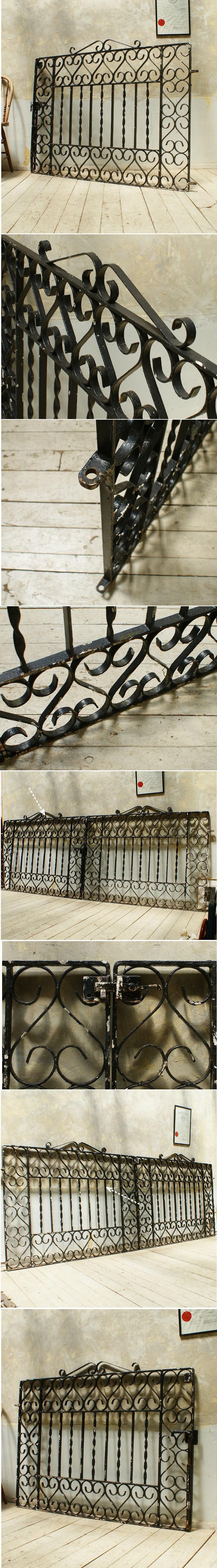 イギリス アンティーク アイアンフェンス ゲート柵 ガーデニング 5560