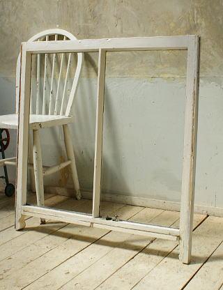 イギリス アンティーク 木製窓 ディスプレイ 建具 5706