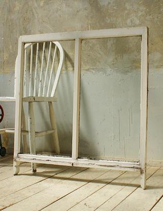 イギリス アンティーク 木製窓 ディスプレイ 建具 5707