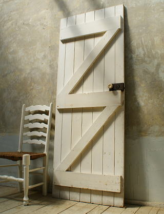 イギリス アンティーク 木製ドア 扉 ディスプレイ 建具 5726
