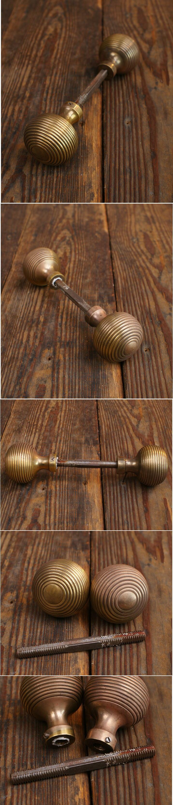 イギリス アンティーク 真鍮 ドアノブ 建具金物 握り玉 5861