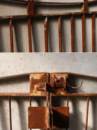 イギリスアンティーク アイアンフェンス ゲート柵 ガーデニング 6027