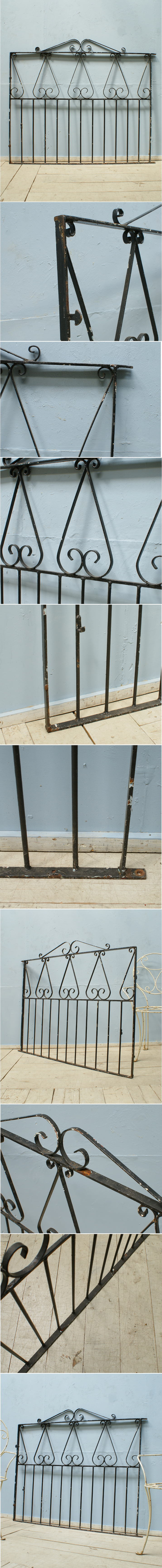 イギリス アンティーク アイアンフェンス ゲート柵 ガーデニング 6155