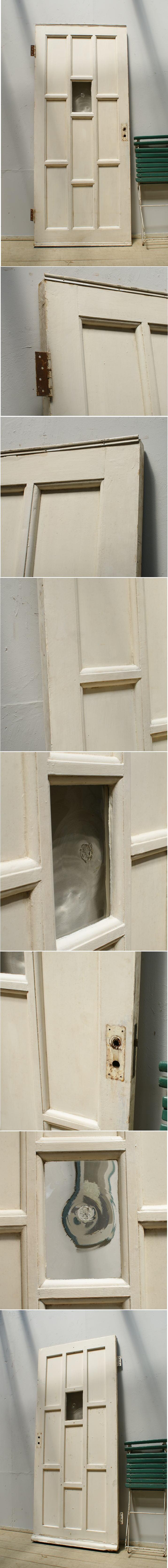 イギリス アンティーク ガラス入り木製ドア 扉 ディスプレイ 建具 6250