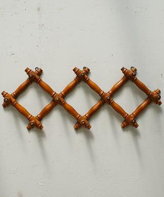フレンチ アンティーク 木製コート&ハットフック 6391
