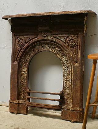 イギリス アンティーク ファイヤープレイス 暖炉 ディスプレイ 6486