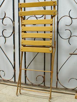 フレンチ アンティーク フォールディング ガーデンチェア 椅子  6495
