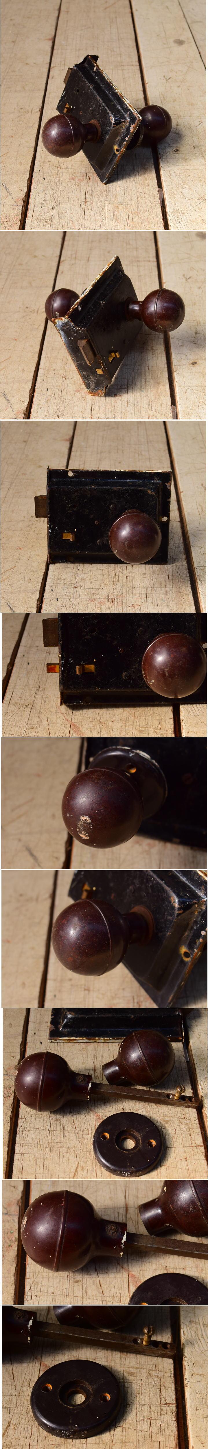 イギリス アンティーク ラッチ&ドアノブ 建具金物 6553