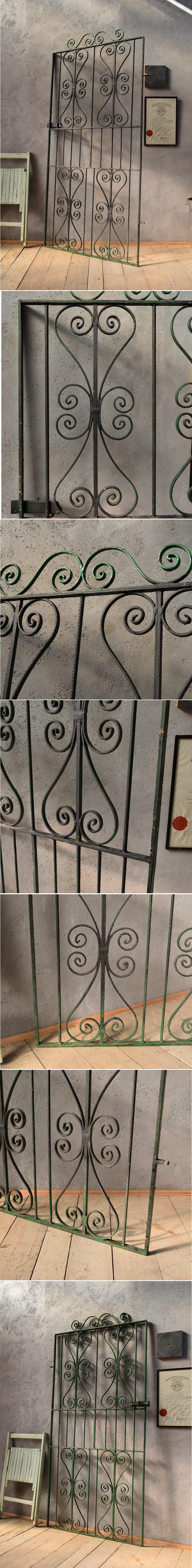 イギリスアンティーク アイアンフェンス ゲート柵 ガーデニング 6600