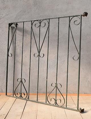 イギリス アンティーク アイアンフェンス ゲート柵 ガーデニング 9995