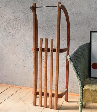 (旧)東ドイツ製 アンティーク 木製ソリ 6680