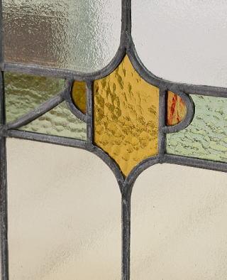 イギリス アンティーク ステンドグラス 幾何学 6710