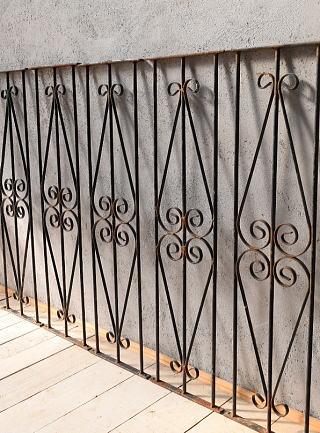 イギリス アンティーク アイアンフェンス ゲート柵 ガーデニング 6739