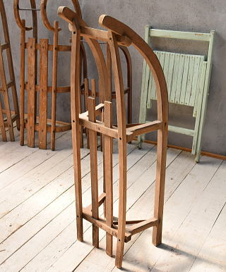東ドイツ製 アンティーク 木製ソリ 6743