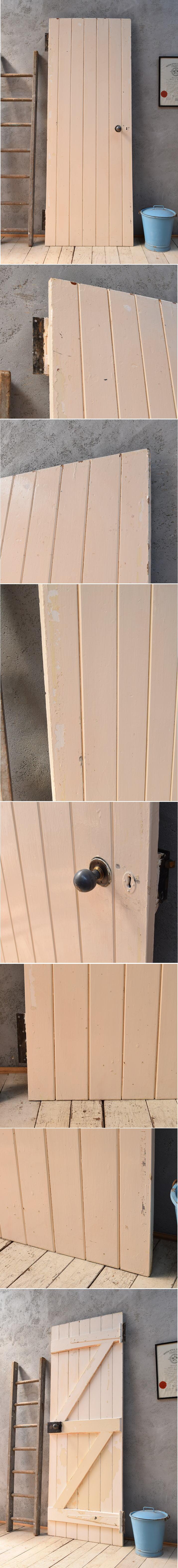 イギリス アンティーク 木製ドア 扉 ディスプレイ 建具 6845