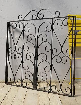 イギリスアンティーク アイアンフェンス ゲート柵 ガーデニング 9573