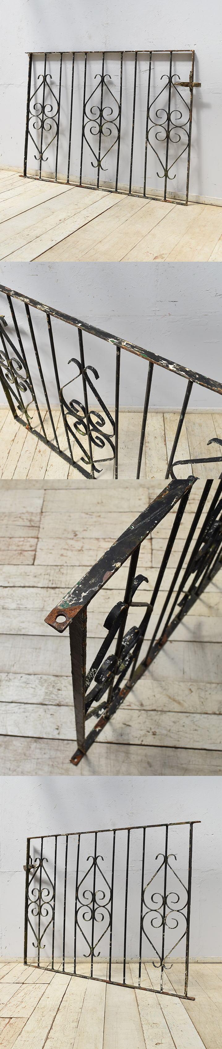 イギリスアンティーク アイアンフェンス ゲート柵 ガーデニング 6889