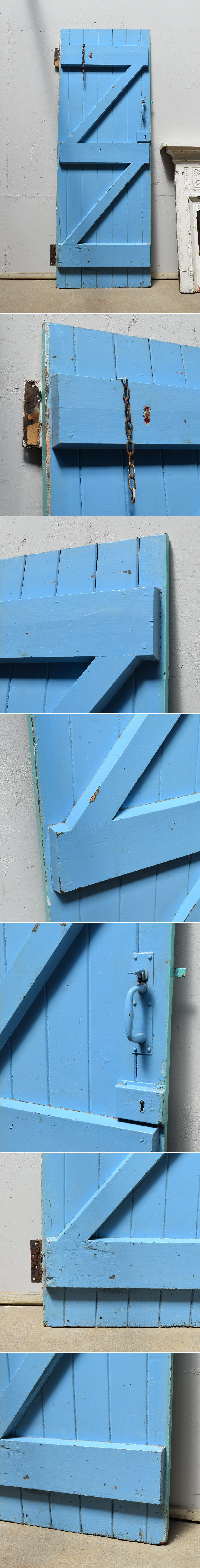 イギリス アンティーク 木製ドア 扉 ディスプレイ 建具 6917