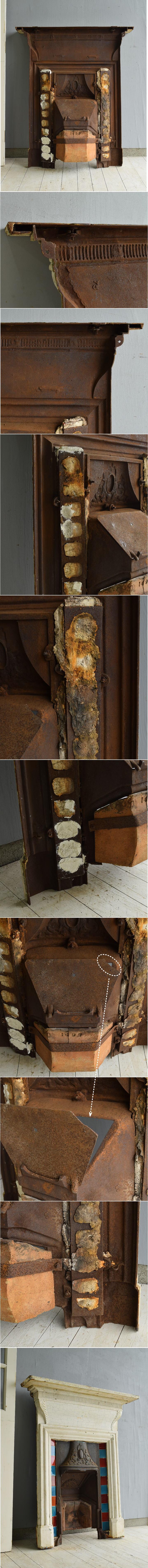 イギリス アンティーク ファイヤープレイス 暖炉 ディスプレイ 7147