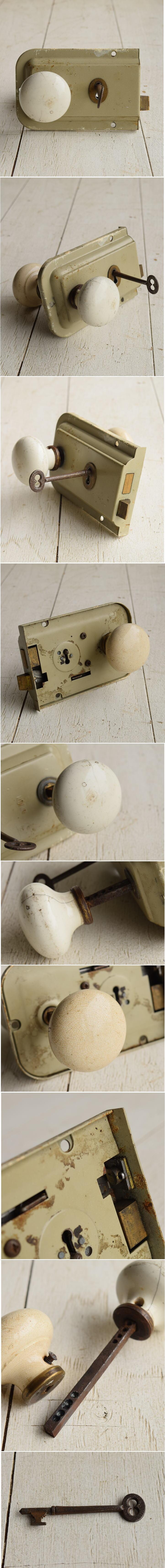 イギリス アンティーク ラッチ&ドアノブ 建具金物 7189