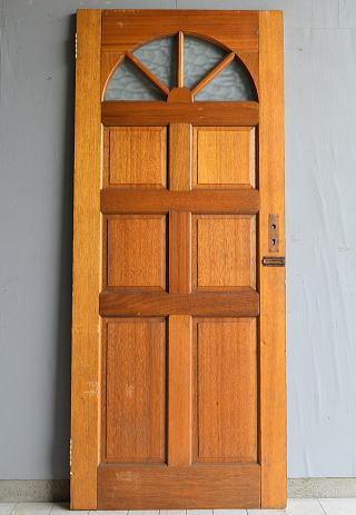 イギリス アンティーク ガラス入り木製ドア 扉  建具 7196